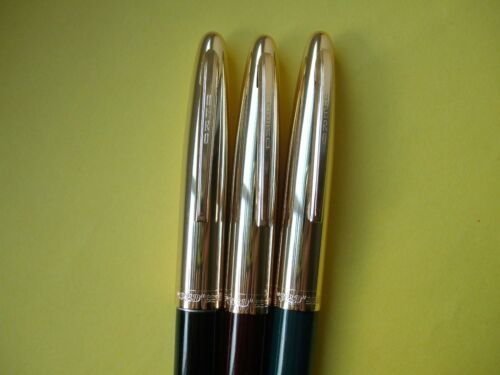 x3 NEW Different Colour Plastic Hero Fountain Pen c1980