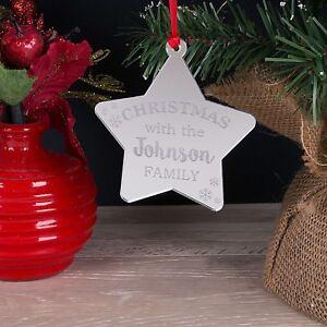 SPECCHIO-personalizzata-Family-Albero-di-Natale-Stella-Decorazione-pallina-natale