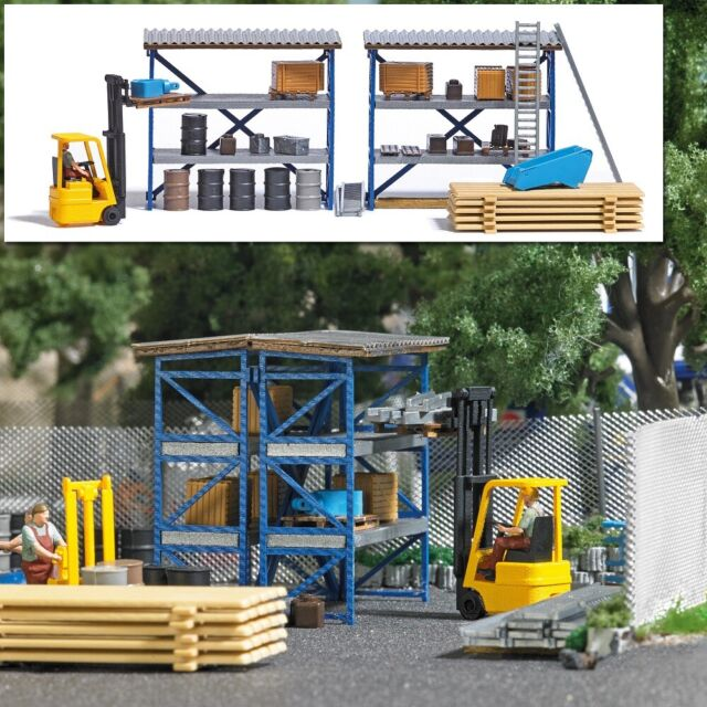 Busch 7845 - 1/87/H0 Action Set: Forklift - New