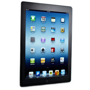 16GB Apple iPad 4th Gen Wi-Fi 9.7in Black Cracked Screen