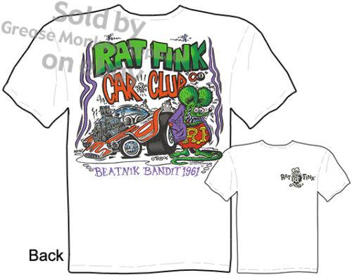 Beatnik Bandit Rat Fink T shirt Big Daddy Shirt Car Club Tee Sz M L XL 2XL 3XL