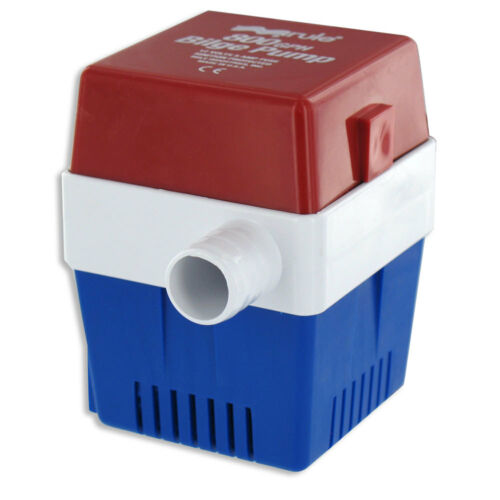 "Rule Boat Marine Square Bilge Pump 12V Non Automatic 3//4/"" Outlet  800GPH"