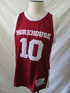 online retailer 1a65f 96802 Details about Morehouse College Tigers 10 Headgear maroon white jersey tank  top large