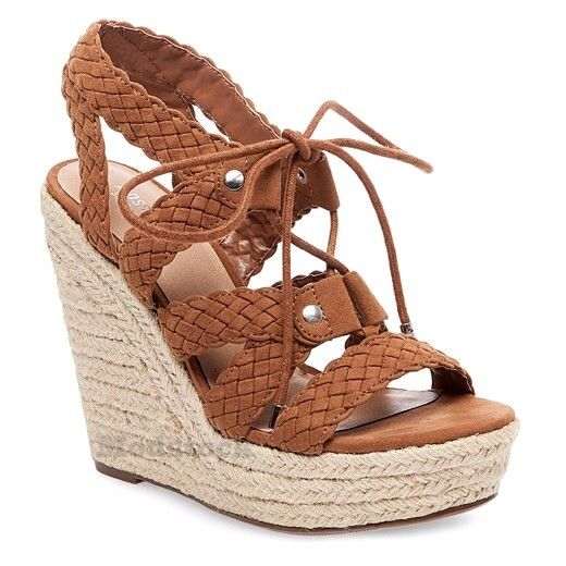 Mossimo Strap Supply Helia Braided Ghillie Strap Mossimo Platform Espadrille Wedge NWOB C224 f118f4