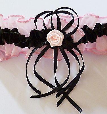 Strumpfband für die Braut Hochzeit schwarz rosa rot creme neu