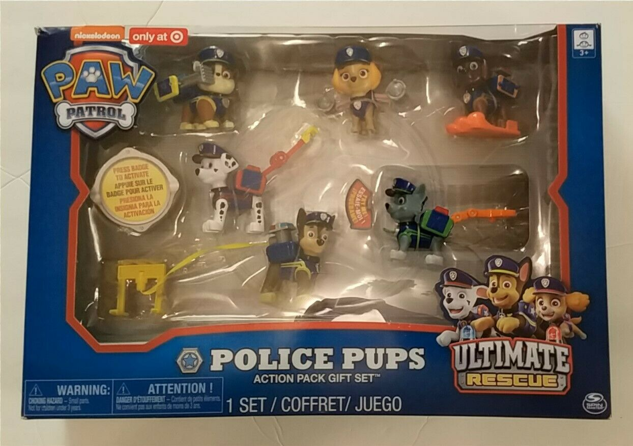 Paw Patrol Police Pups Action Pack Gift Set Ultimate Rescue NEW