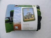 John Deere No Sew Fleece Throw Kit Blanket 43 X 55 Tractor Farm Green