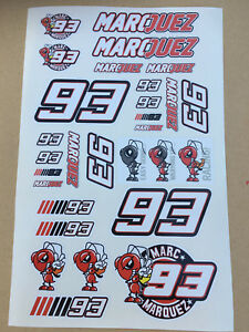 93-Marc-Marquez-Stickers-set-sheet-of-27-stickers-Motorcycle-GP-size-225-x-130mm
