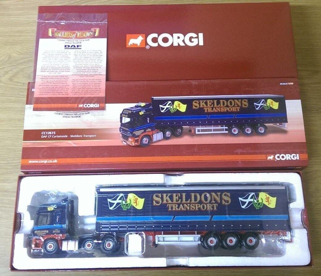 Corgi CC13615 DAF CF Curtainside skeldons transporte Ltd Edición No. 0001 de 1510