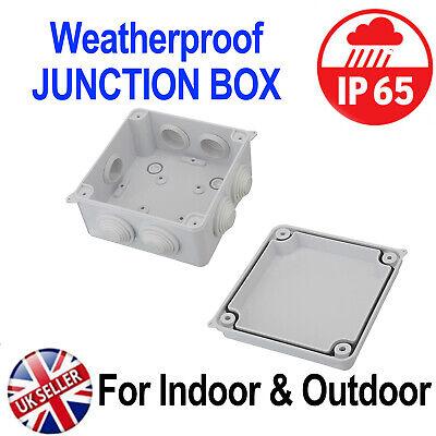 10x10cm Waterproof White Ip Junction Box Ip65 For Exterior Garden Cctv Electric Ebay