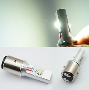 Led Headlight Bulb >> BA20D H6 20W CREE LED White Headlight High/Low Beam Light Bulb 6V-24V Motorcycle   eBay