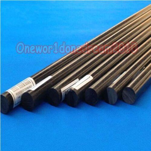 "20/"" length 500mm 2x Black ACETAL POM Plastic Round Bar Rod Diameter 8mm"