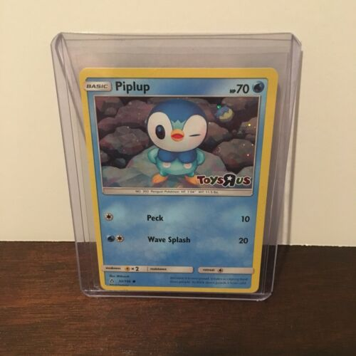 Pokemon Piplup Holo Foil Exclusive Toys R Us Promo Card 32//156 With Card Protect
