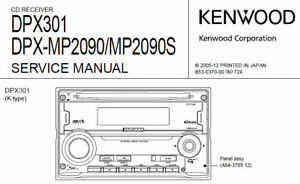 Details about KENWOOD DPX301 DPX-MP2090 DPX-MP2090S CD RECEIVER SERVICE on