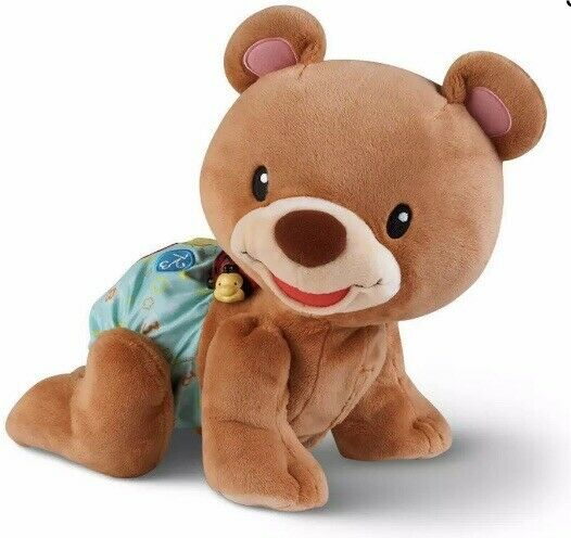 Crawling Singing Teaching Teddy interactive bear teaches colors shapes VTECH