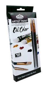 Artists-Oil-Color-Paint-Set-Of-12-2-Brushes-by-Royal-and-Langnickel