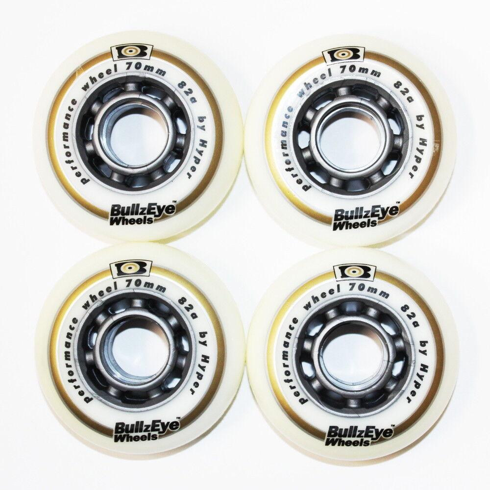 4 8 Set Hyper Roulettes Bullzeye Roues Roulettes Hyper Extérieur 70mm 82 A Rollers en Ligne 18-N 0245b0
