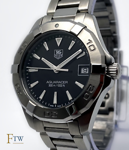Tag Heuer Aquaracer Ladies Watch Black Dial WAY1310 32mm Excellent Condition