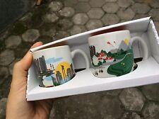 Starbucks Indonesia - Jakarta demitasse artsy mug 3oz x 2 pcs , 2016 limited