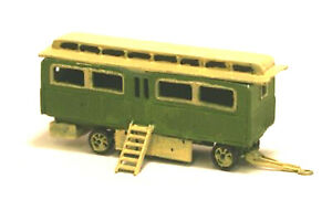 Fairground-Panelled-Living-Wagon-UNPAINTED-N-Gauge-Scale-Langley-Models-Kit