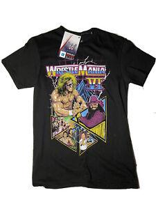 NEU-WWE-umnd-VI-T-Shirt-Ultimate-Warrior-Macho-Man-Wrestling-Tee-kleine