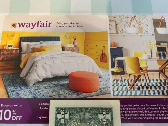 WAYFAIR ~ wayfair.com ~ 10% off FIRST ORDER Coupon....Expires 7/14/21 ~ Save $$$