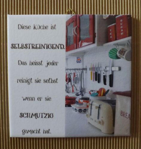 Dekofliese Decoupage Wandbild Geschenkidee Bild Selbstreinigende Küche 007DP