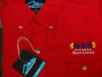 Tri Mountain 911 Dispatcher S/s Button Down Dispatch Police Fire Ems Sz M