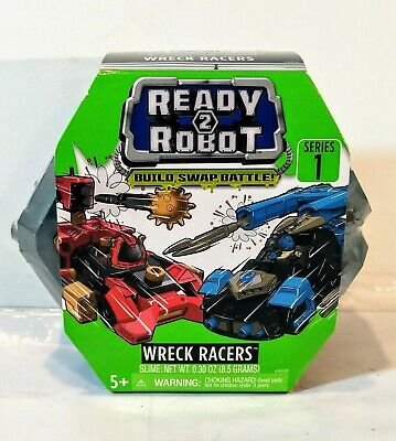 Build,Swap,Battle! NEW Ready 2 Robot Wreck Racers Surprise Slime Toy Series 1