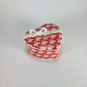 Vintage Brinns Valentine's Heart Ceramic Trinket Box