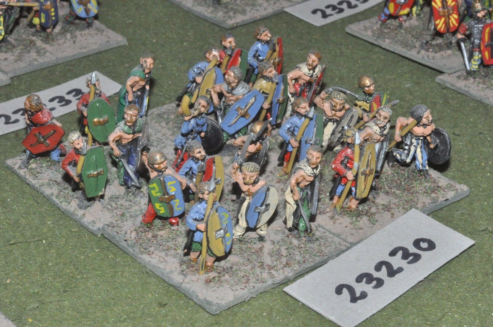 25mm roman era   gaul - warriors 24 figures - inf (23230)