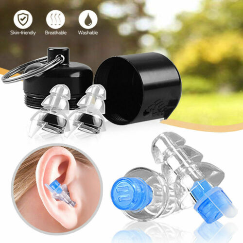 Earplugs for Concerts Musicians Motorcycles Noise Cancelling Ear Plugs 2 Sizes