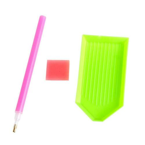 5D DIY Special Shaped Diamond Painting Craft Storage Box Holder Pencil Case Kit