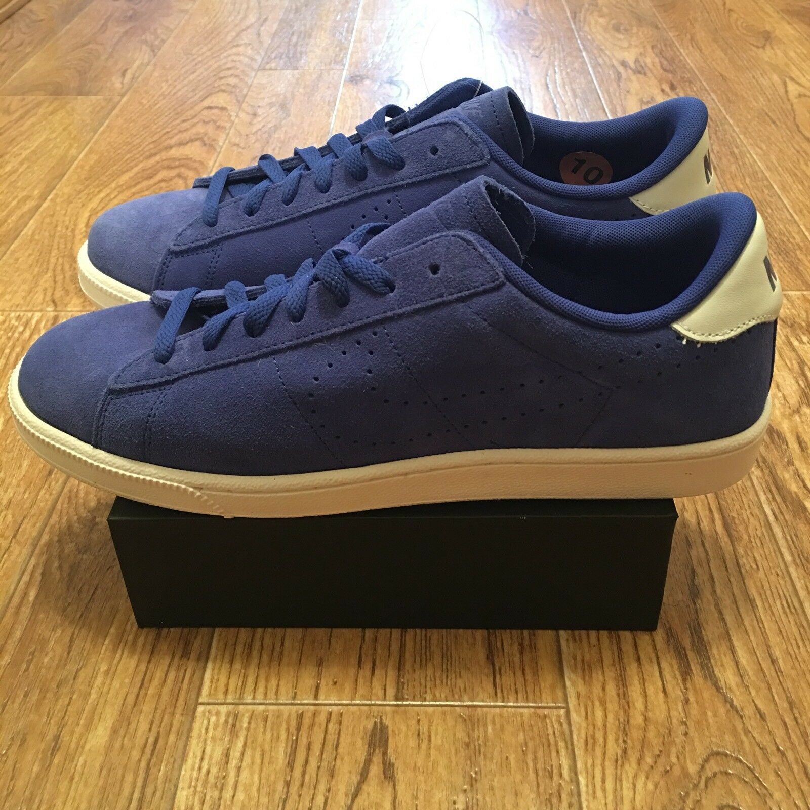 Nike Men TENNIS CLASSIC CS SUEDE Sneaker shoes 829351 400 bluee Size 10