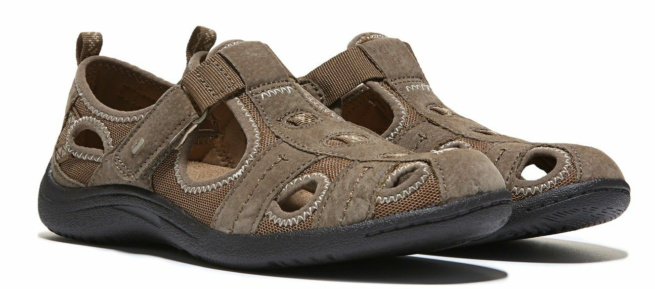 NEW EARTH ORIGINS SANDALS WOMENS 6.5 SPORT SANDALS SUEDE CLOSED TOE FREE SHIP