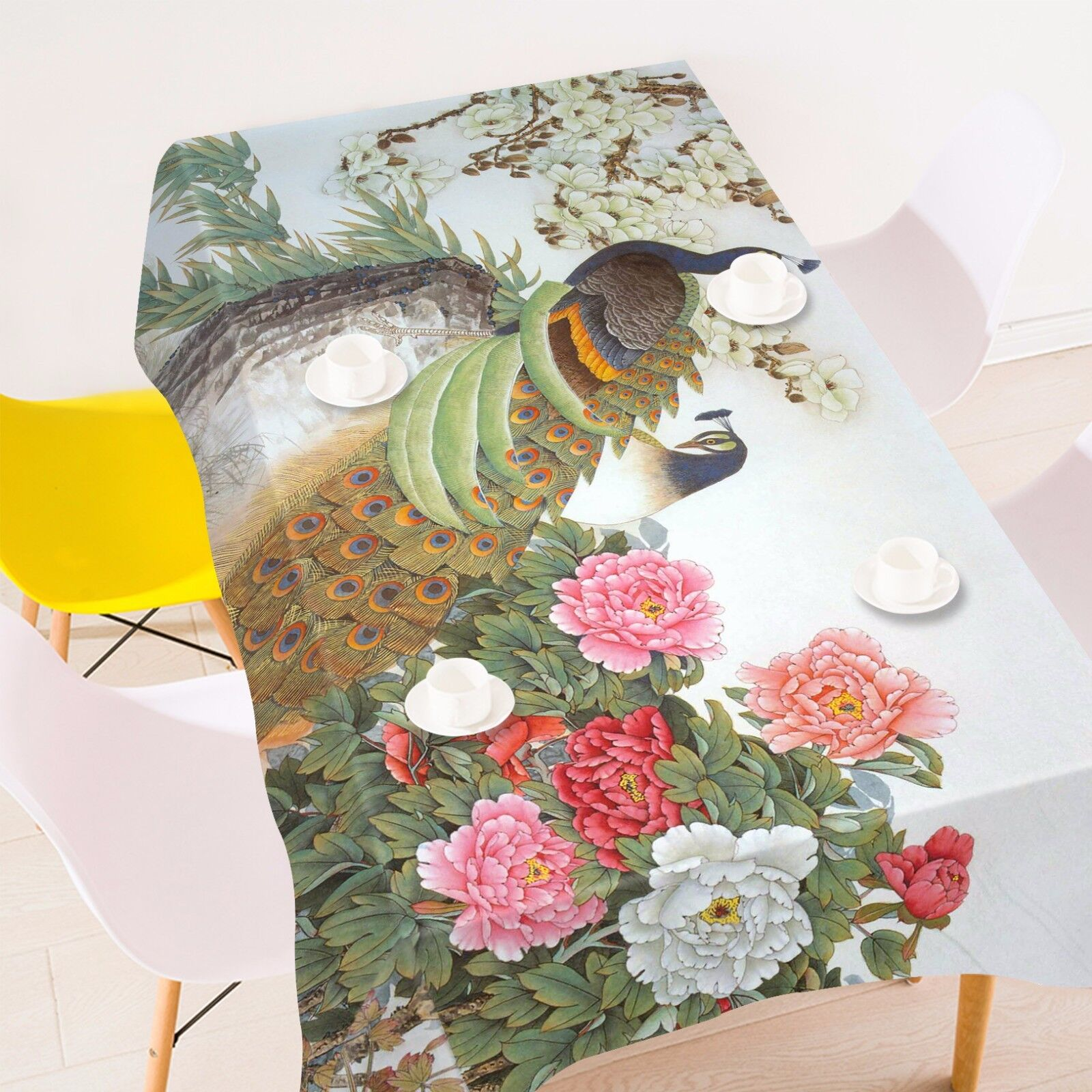 3D  Peony 4238 Tablecloth Table Cover Cloth Birthday Party Event AJ WALLPAPER AU