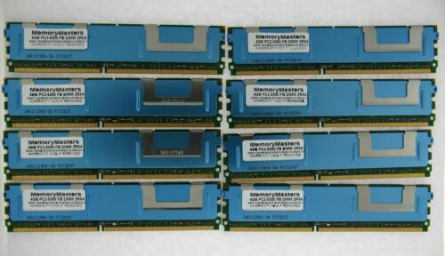 32gb 8x 4gb PC2-5300F HP Proliant BL460C DL360 DL380 DL580 ML350 ML370 G5 Memory