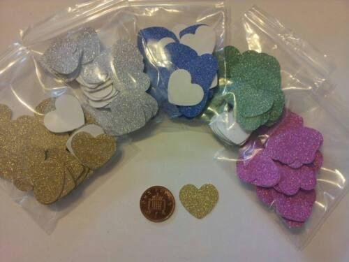 60 Papier//Carte Amour Coeur Paillettes Embellissements Fabrication Carte Artisanat