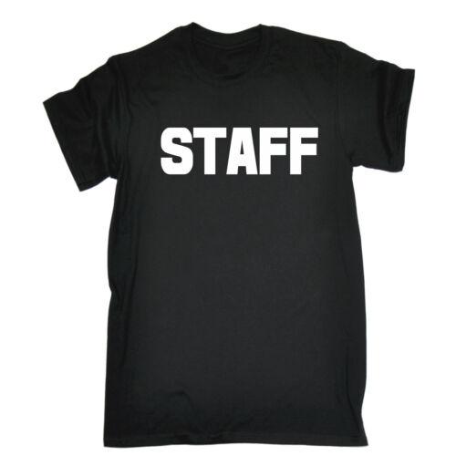 Il personale grandi ANTERIORE e POSTERIORE T-shirt Lavoro Uniforme Workwear bar regalo di compleanno
