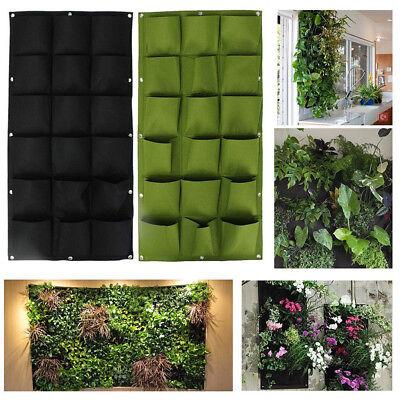 18 Pocket Indoor Outdoor Wall Balcony Herbs Vertical Garden