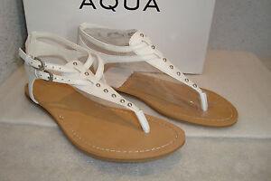 Aqua Damenschuhe NWB Famous Weiß Leder Sandales Schuhes 5.5  MED NEW  5.5    2613d4