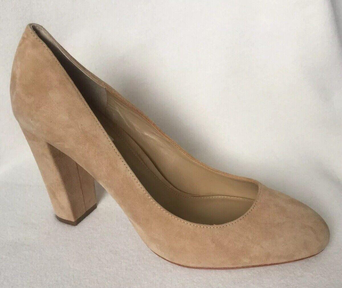 New Ralph Lauren Velda Tan Camel Suede Classic Heels sz 10 B
