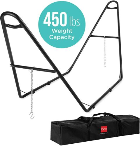 Adjustable Hammock Stand For Hammocks 9 To 14Ft Long Indoor Outdoor With Hooks