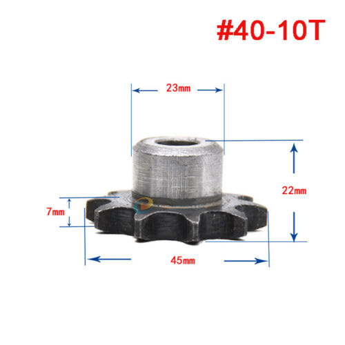 """Roller Chain Drive Sprocket With Step 08B 9-60T Pitch 1//2/"""" 12.7mm For #40 Chain"""