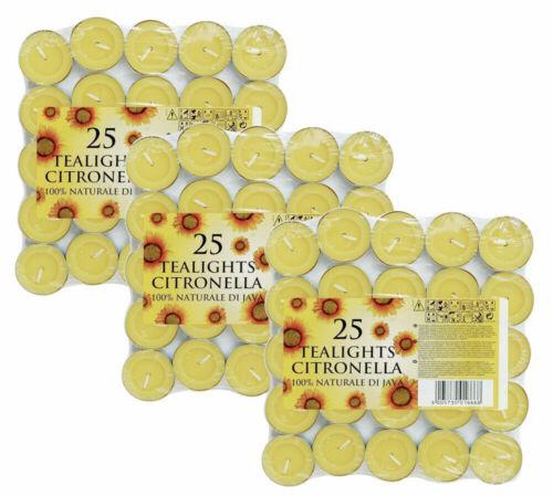 Citronnelle Photophore Bougies abri de Moustique Mouche Insectes Répulsif parfumé