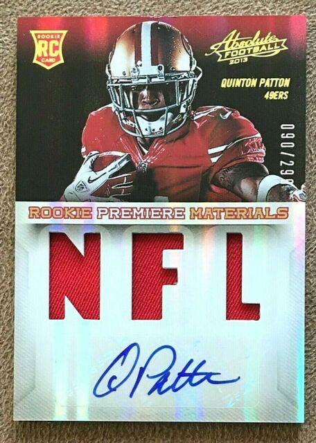 Quinton Patton 2013 Absolute Rookie Premiere Autograph Jersey #230 ...