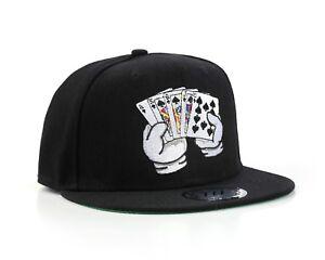 True-Heads-Texas-Poker-Royal-Flush-Black-Snapback-Baseball-Cap