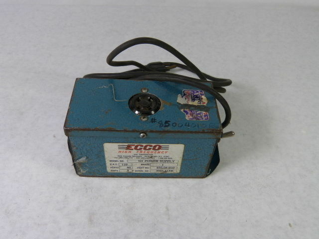 ECCO High Frequency Model G4 Glow Tester 110 Volt Tested Working