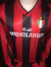 Signed Retro Ruud Gullit Rare AC Milan Home Shirt