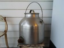 Vtg Milk Can Stainless Steel 8 Gal Spout Possibly For Moonshine Beer Boiler